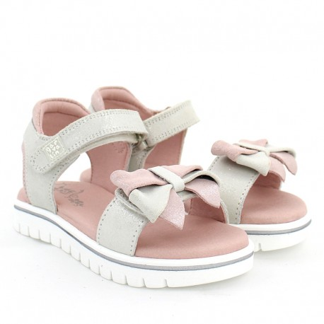 Garvalin 202653 dívčí sandály stříbrné