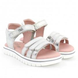 Garvalin 202652 stříbrné sandály pro dívky