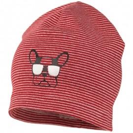 ARON prokládaný klobouk dětský úplet Jamiks JWC173 červený