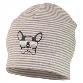 486/5000 ARON prokládaný klobouk dětský úplet Jamiks JWC173 barva šedá
