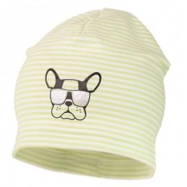 ARON prokládaný klobouk dětský úplet Jamiks JWC173 barevný celadon