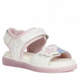 Geox J028UB-0AJ15-C1000 dívčí sandály bílé
