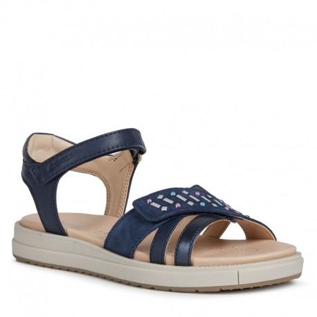 Dívčí sandály Geox J02BLF-02254-C4002 tmavě modrá