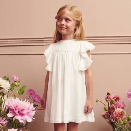 Dívčí společenské šaty MINIMI 10/20 krémová barva