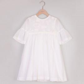 Dívčí společenské šaty MINIMI 11/20 krémová barva