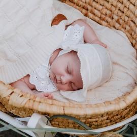 GINEWRA Bavlněný klobouk pro dívčí Jamiks JLC049 ecri barva