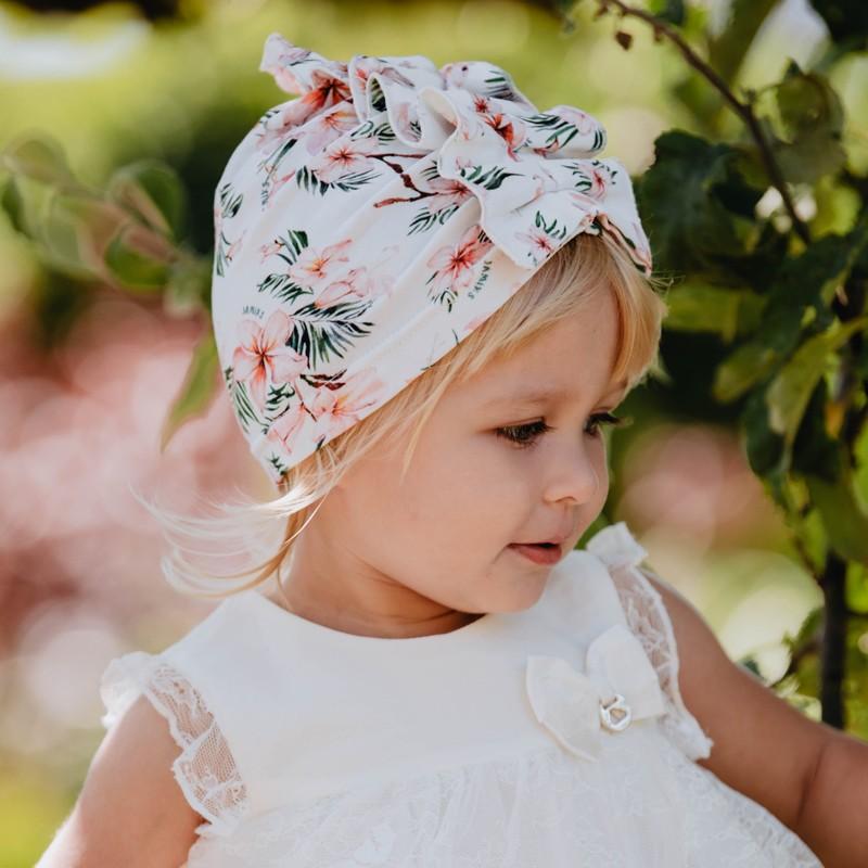 NATASZA turban dívčí klobouk Jamiks JWC133 růžový