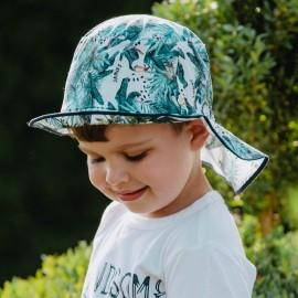 HIRARIO letní čepice pro chlapce Jamiks JLC121 smaragdová barva