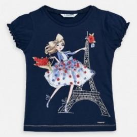 Bavlněné tričko pro dívku Mayoral 3008-49 granát