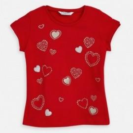 Mayoral 3012-65 dívčí tričko s krátkým rukávem červené