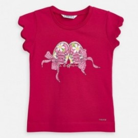 Dívčí červené tričko Mayoral 3015-54