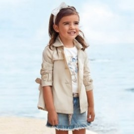 Dívčí kabát Mayoral 3474-88 béžová