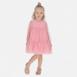 Tylové šaty pro dívky Mayoral 3920-29 růžová