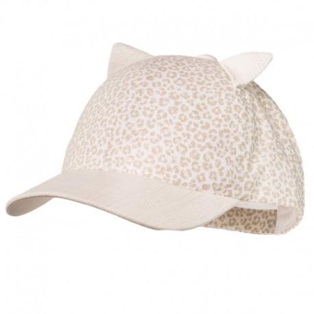 KOCIAK organická čepice pro dívky Jamiks JLC096 barva béžová