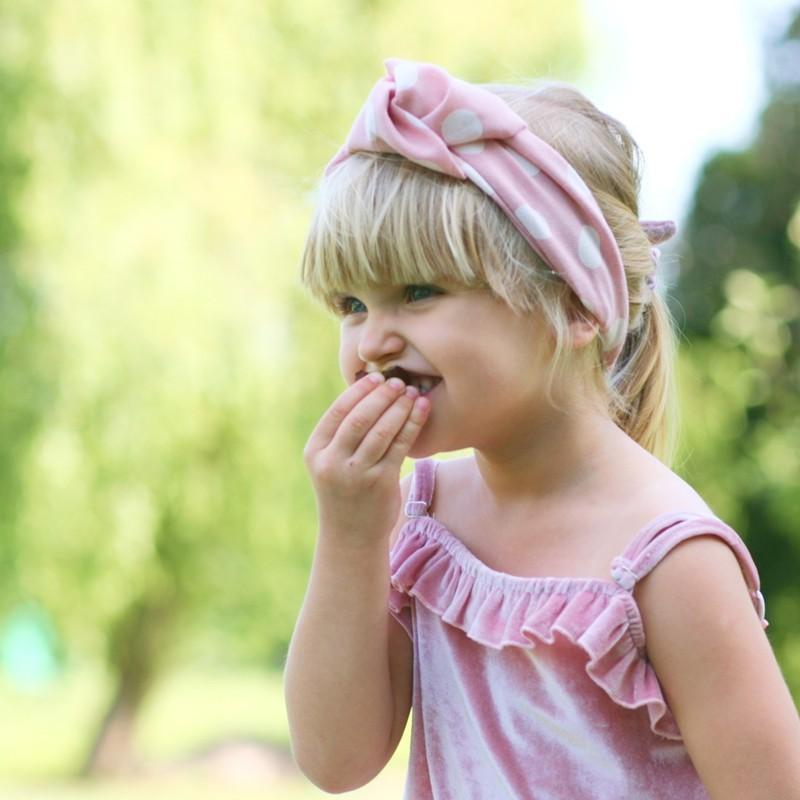 Pupill Čelenka HERMINA pro dívčí barvu růží