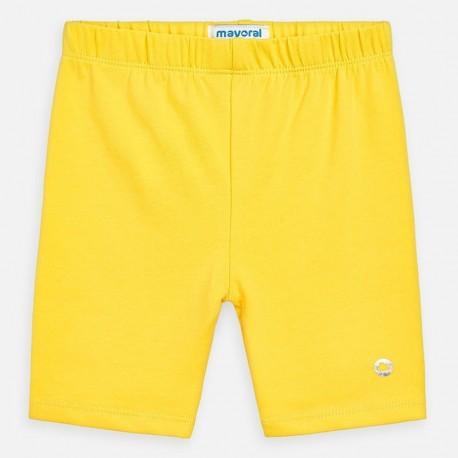 Krátké legíny pro dívky Mayoral 3272-11 žlutá