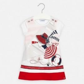 Bavlněné dívčí šaty Mayoral 3936-11 Červené