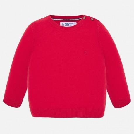 Chlapecký bavlněný svetr Mayoral 303-37 Červené