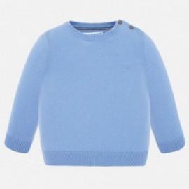 Chlapecký bavlněný svetr Mayoral 303-34 Modrý