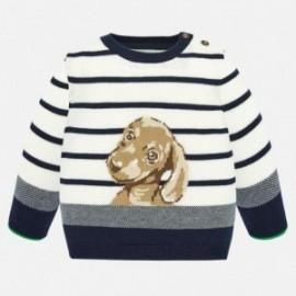 Chlapecký svetr s výšivkou Mayoral 1321-48 Krém