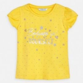 Bavlněné tričko pro dívku Mayoral 3009-37 Žlutá
