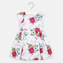 Dívčí květinové šaty Mayoral 3913-65 Barevné