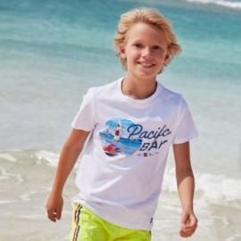 Chlapecké tričko s krátkým rukávem Mayoral 6065-11 Bílý
