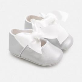 Elegantní boty pro dívku Mayoral 9284-32 stříbrný