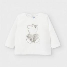 Dívčí košile s dlouhým rukávem Mayoral 116-65 Krémová