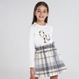 Dívčí košile s dlouhým rukávem Mayoral 830-65 Krémová
