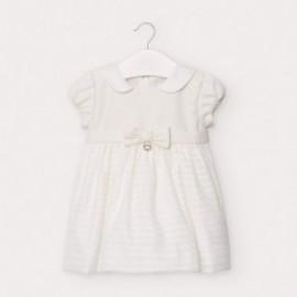 Elegantní dívčí šaty s mašlí Mayoral 2947-78 krém