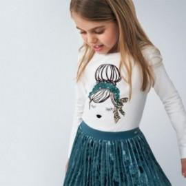 Košile s dlouhým rukávem pro dívku Mayoral 4060-91 zelená