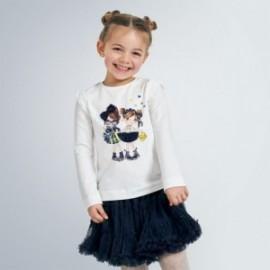 Tričko s dlouhým rukávem pro dívky Mayoral 4062-78 Granát