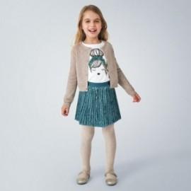 Pletený dívčí svetr Mayoral 4349-78 béžový