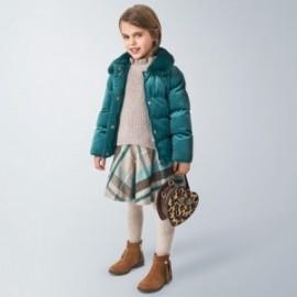Mayoral kostkovaná sukně pro dívky 4952-86 šedá / tyrkysová
