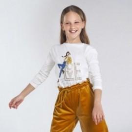 Mayoral 7068-30 krémová dívčí košile s dlouhým rukávem