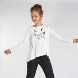 Mayoral 7072-80 krémová dívčí košile s dlouhým rukávem
