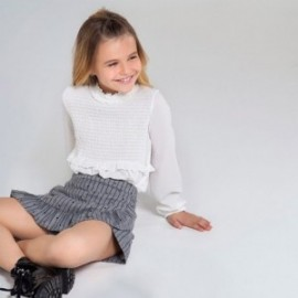 Elegantní krepová dívčí halenka Mayoral 7136-1 krém