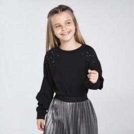 Dívčí mikina s tryskami Mayoral 7402-53 Černá