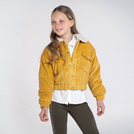Bunda manšestr pro dívku Mayoral 7407-40 Žlutá