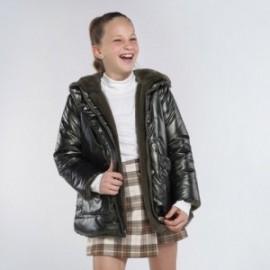 Oboustranná bunda pro dívku Mayoral 7412-53 Zelená