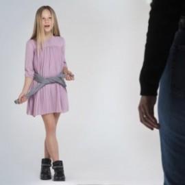 Plisované dívčí šaty Mayoral 7962-37 Růžový