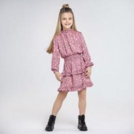 Saténové šaty pro dívku Mayoral 7966-32 Růžový