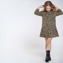 Mayoral 7969-2 vzorované šaty pro dívky zelená