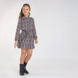 Tištěné šaty pro dívky Mayoral 7972-15 Olovo