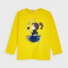 Dívčí košile s dlouhým rukávem Mayoral 4070-51 žlutá