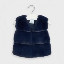Dívčí kožešinová vesta Mayoral 4351-12 tmavě modrá