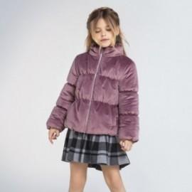 Dívčí velurová bunda Mayoral 7411-10 violet