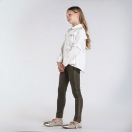 Dívčí dlouhé kalhoty Mayoral 7537-50 zelená