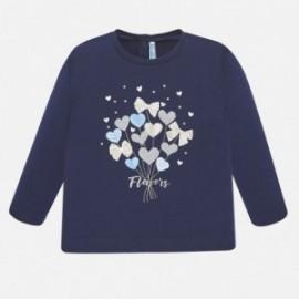 Dívčí tričko s dlouhým rukávem 1068-88 Granát